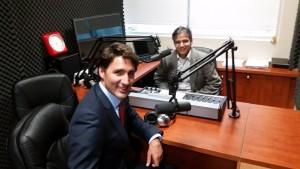 Prime Minister Justin Trudeau in Parvasi Radio