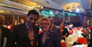 Kathleen Wynne with Rajinder Saini  (Premier)