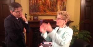 Ontario's Premier Kathleen Wynne
