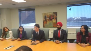 Hon. PM Justin Trudeau and local MPs in Brampton City