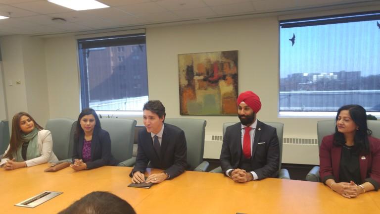 Hon. PM Justin Trudeau and local MPs in Brampton City