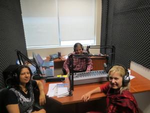 Bonnie Crombie in parvasi radio