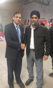 Hon Harjit Sajjan Minister of Defence with Rajinder Saini