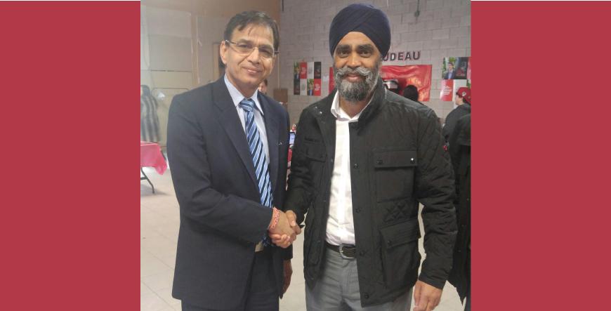 Hon Harjit Sajjan Minister of Defence in Parvasi Radio