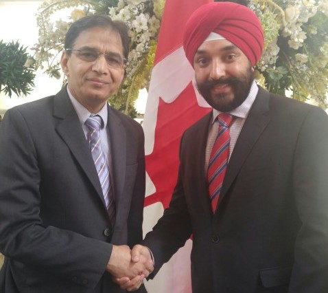 Navdeep Bains MP in Parvasi Studio