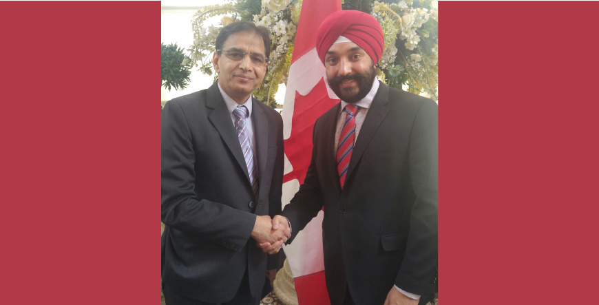 Navdeep Bains MP with Rajinder Sanini