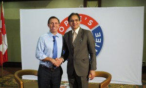 Leader of the Progressive Conservative Party of Ontario Mrs Meenakshi Saini with Patrick Brown