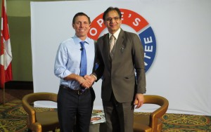 Leader of the Progressive Conservative Party of Ontario Mr. Rajinder Saini with Patrick Brown
