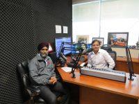 Minister of National Defence of Canada Harjit Sajjan with Rajinder Saini