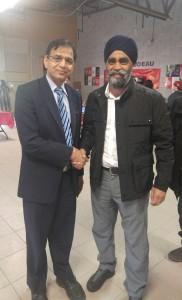 Hon Harjit Sajjan Minister of Defence with Rajinder Saini